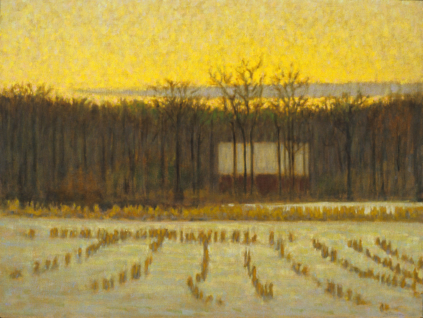 "December Morning     oil on canvas   27 x 36""   2000"