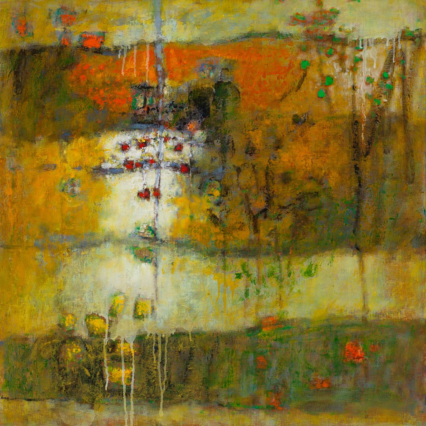 "Abundant Unravelling   | oil on canvas | 30 x 30"" | 2015"