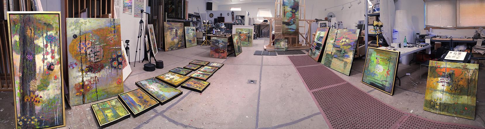 Preparing for Rick's upcoming show at Hunter Kirkland Contemporary