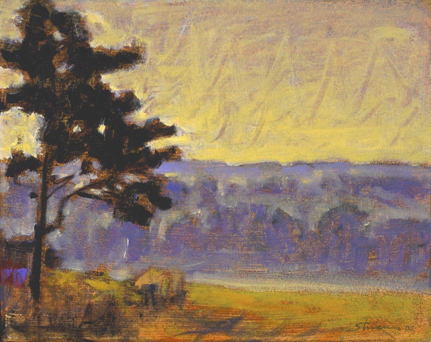"Violet Haze     oil on canvas   8 x 10""   2002"