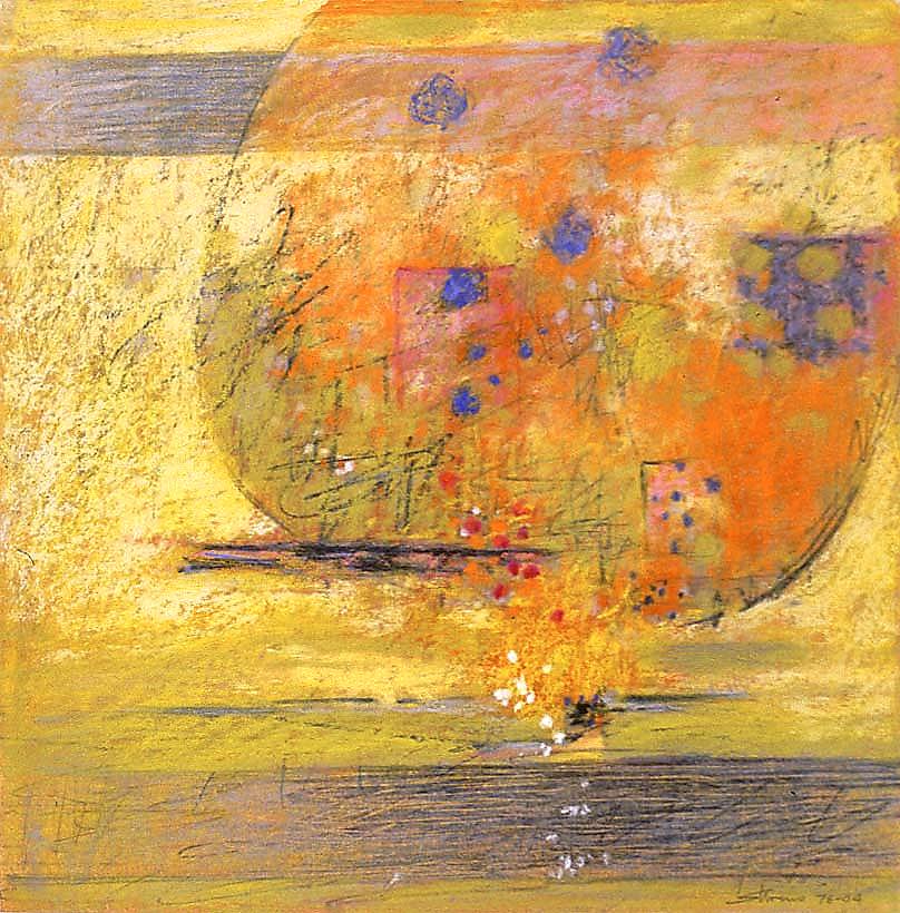 "76-04   pastel on paper   14 x 14""   2004"
