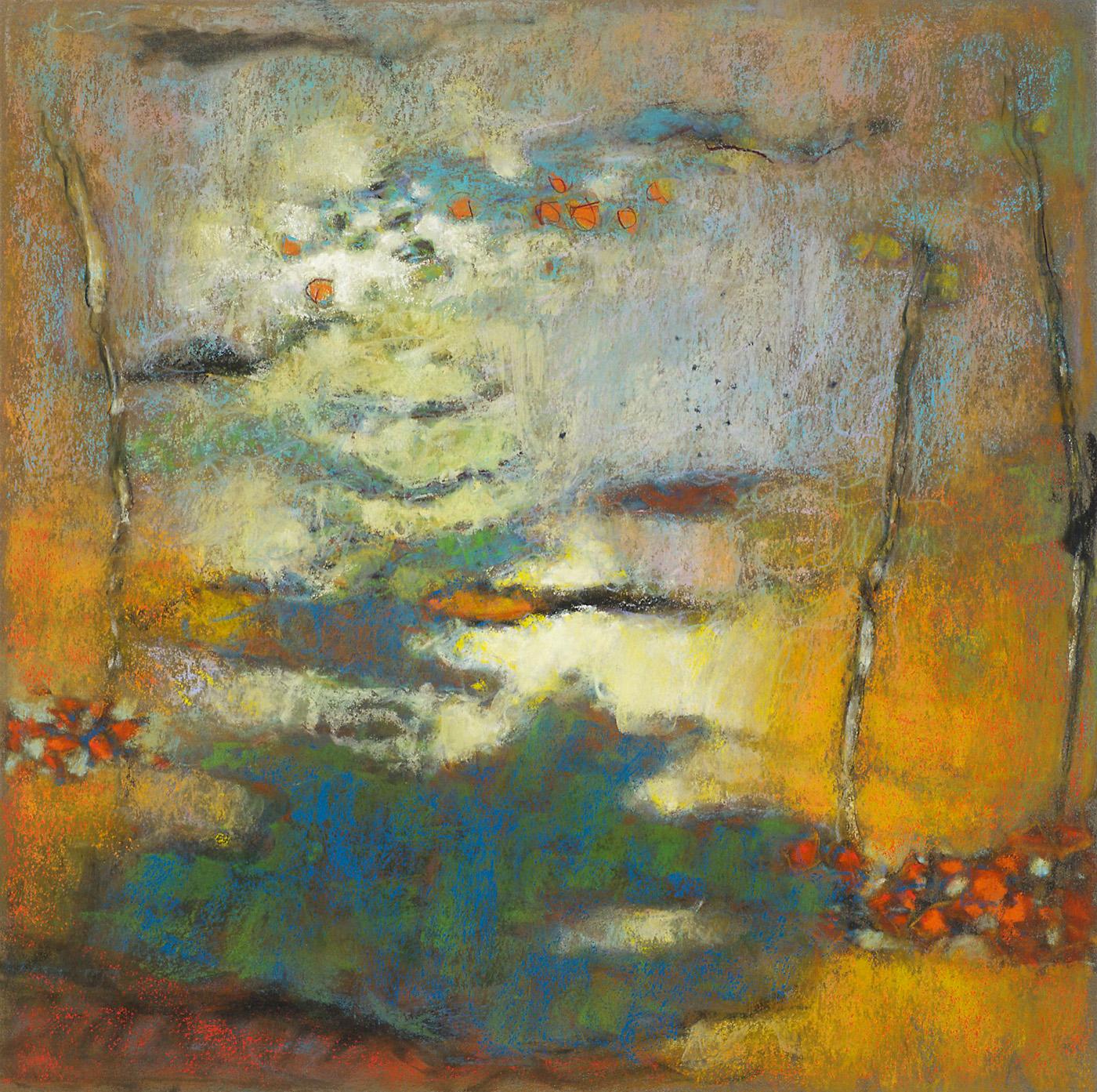 "95-13     pastel on paper   14 x 14""   2013"