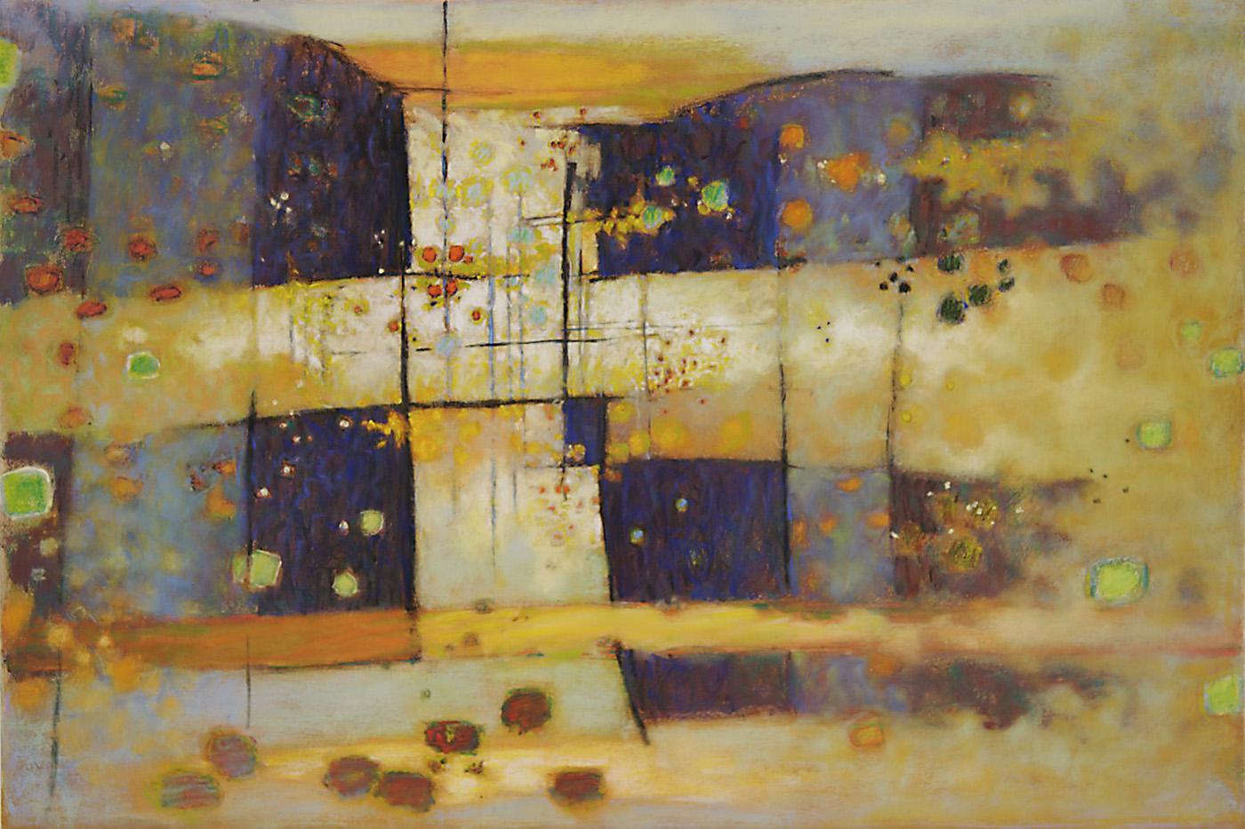 "Exceeded Borders   | pastel on paper | 26 x 39"" | 2007"