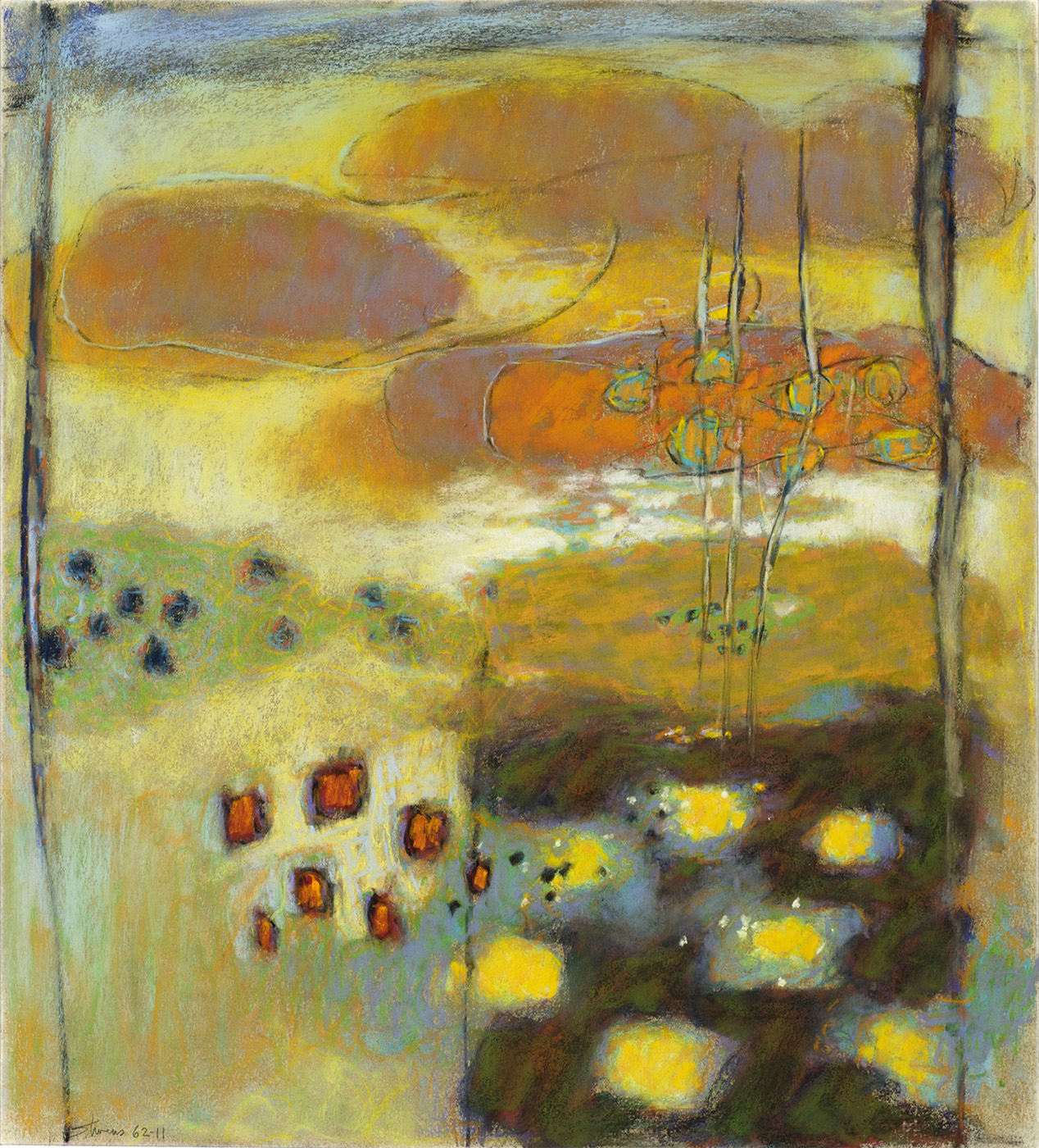 Between Worlds   | pastel on paper | 20 x 18"