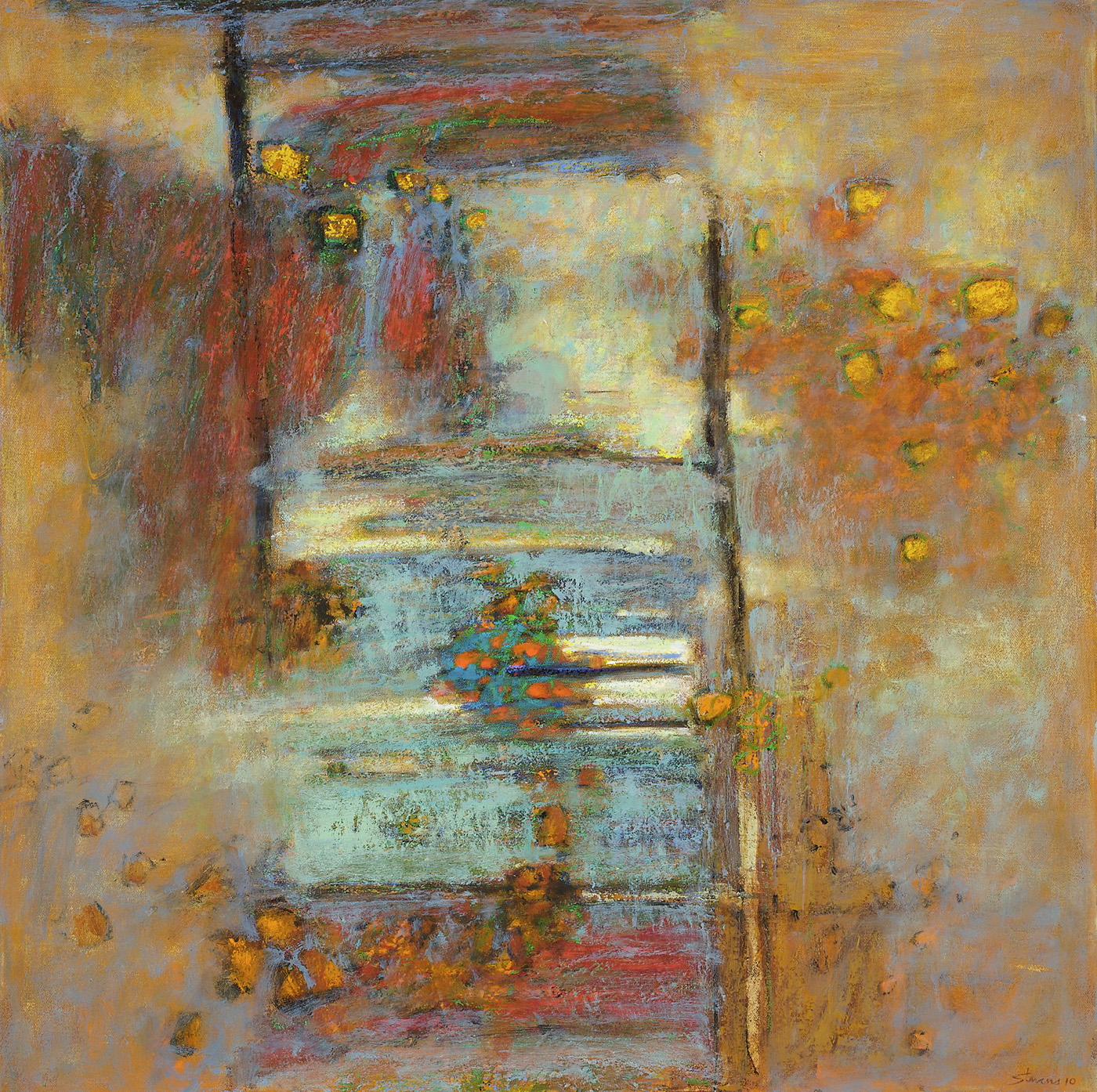 Sonic Equilibrium   | oil on canvas | 30 x 30"
