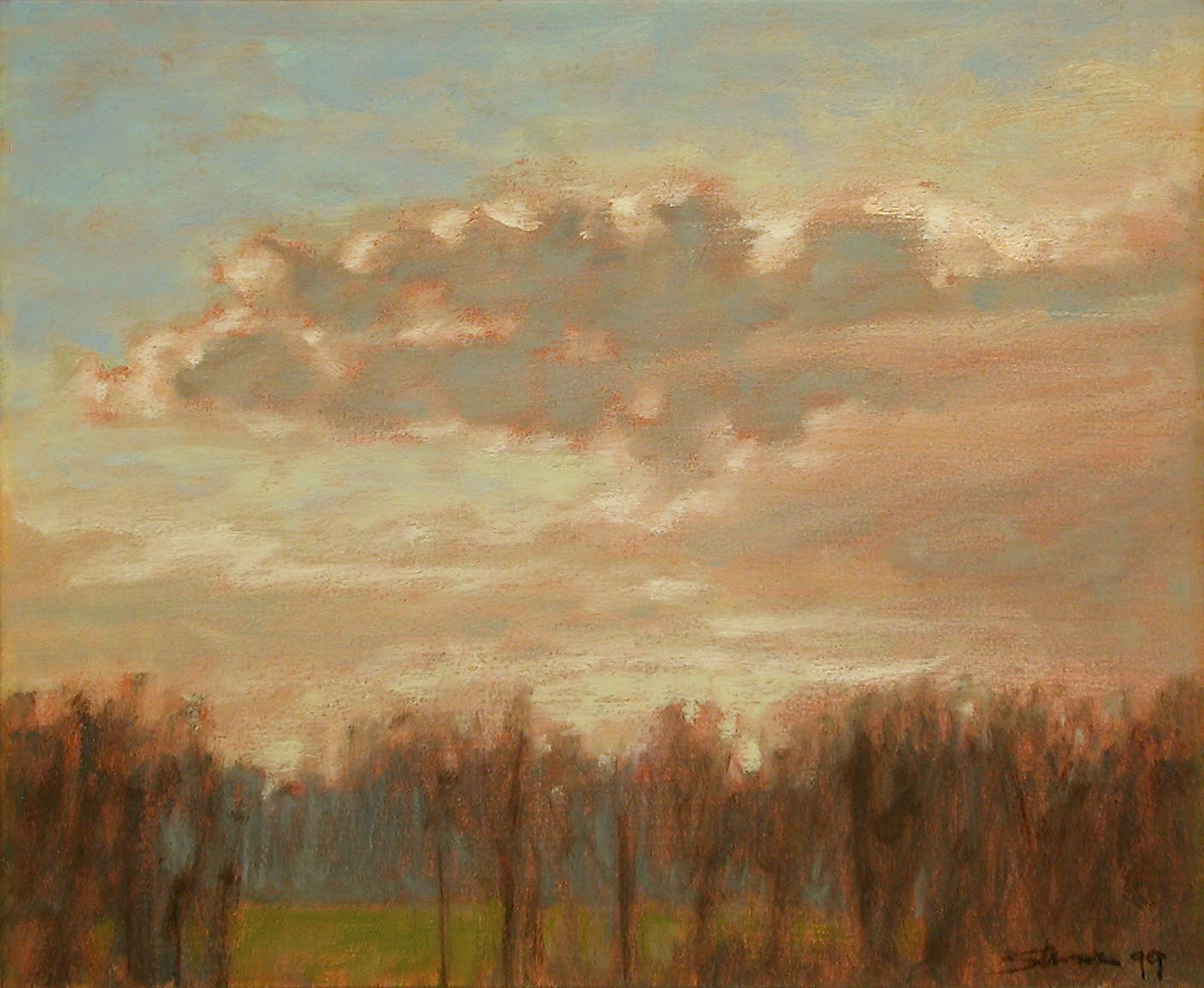 March Winds   | oil on panel | 10 x 12"