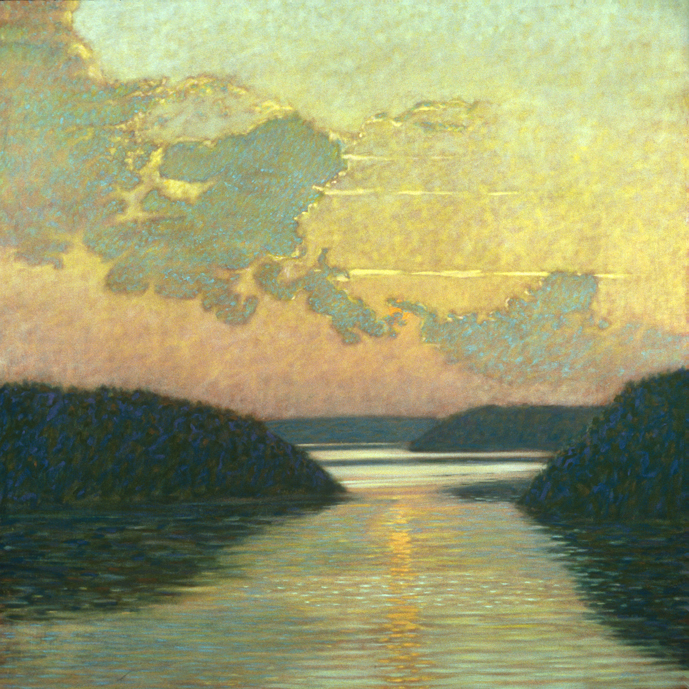 Sunset Over Water   | oil on canvas 48 x 48"
