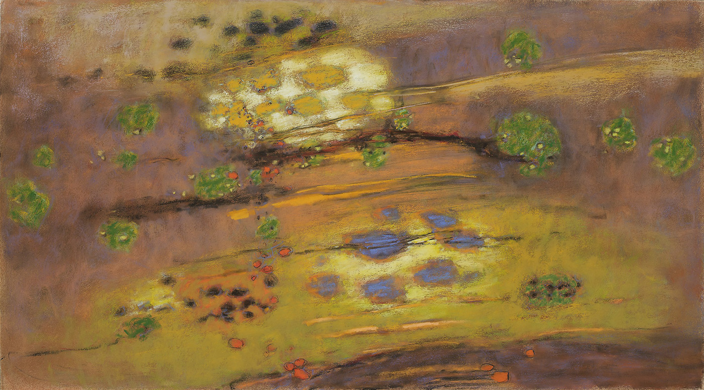 "Spirits Drifting     pastel on paper   20 x 36""   2010"