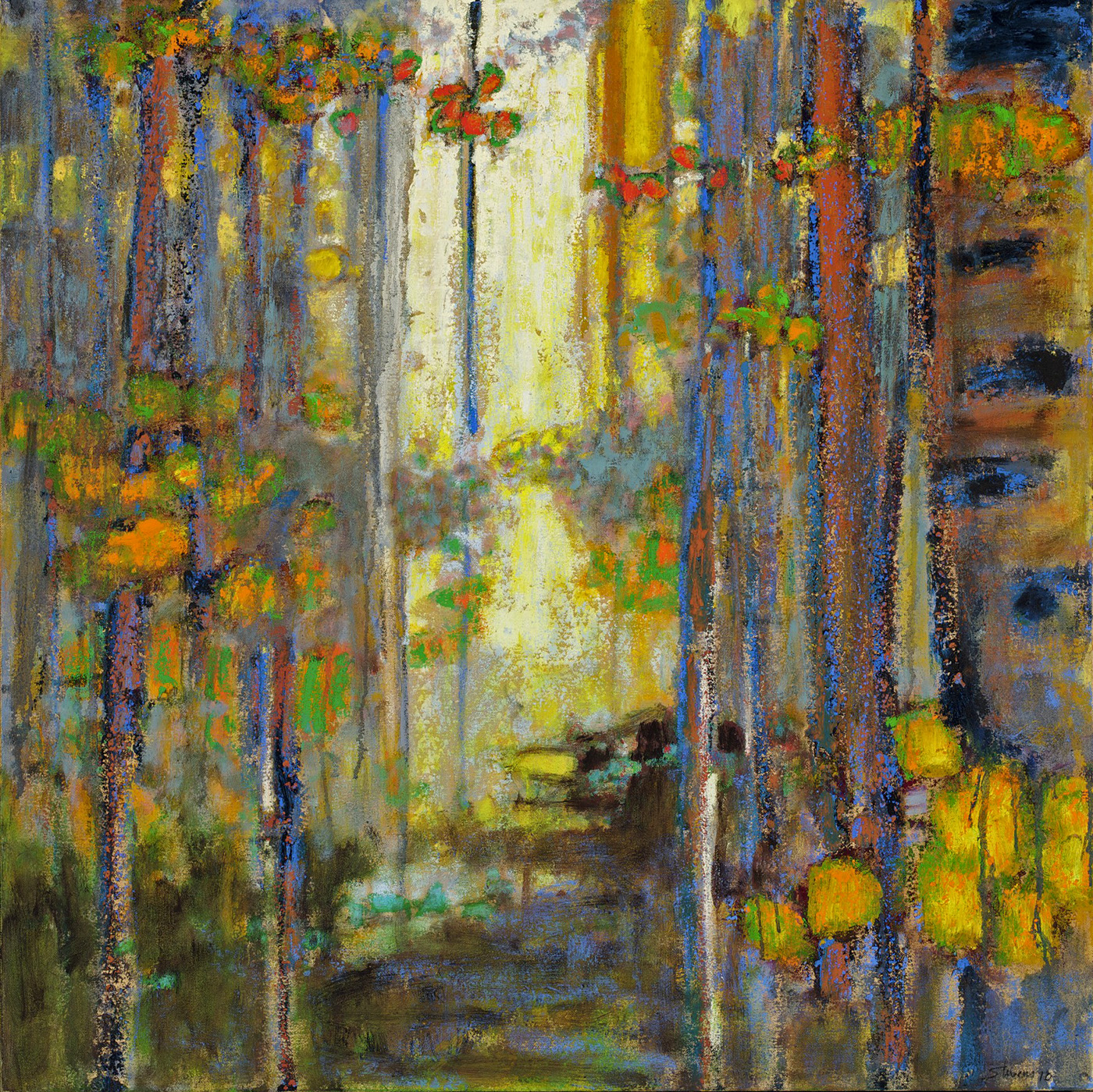 """Backlit Forest   