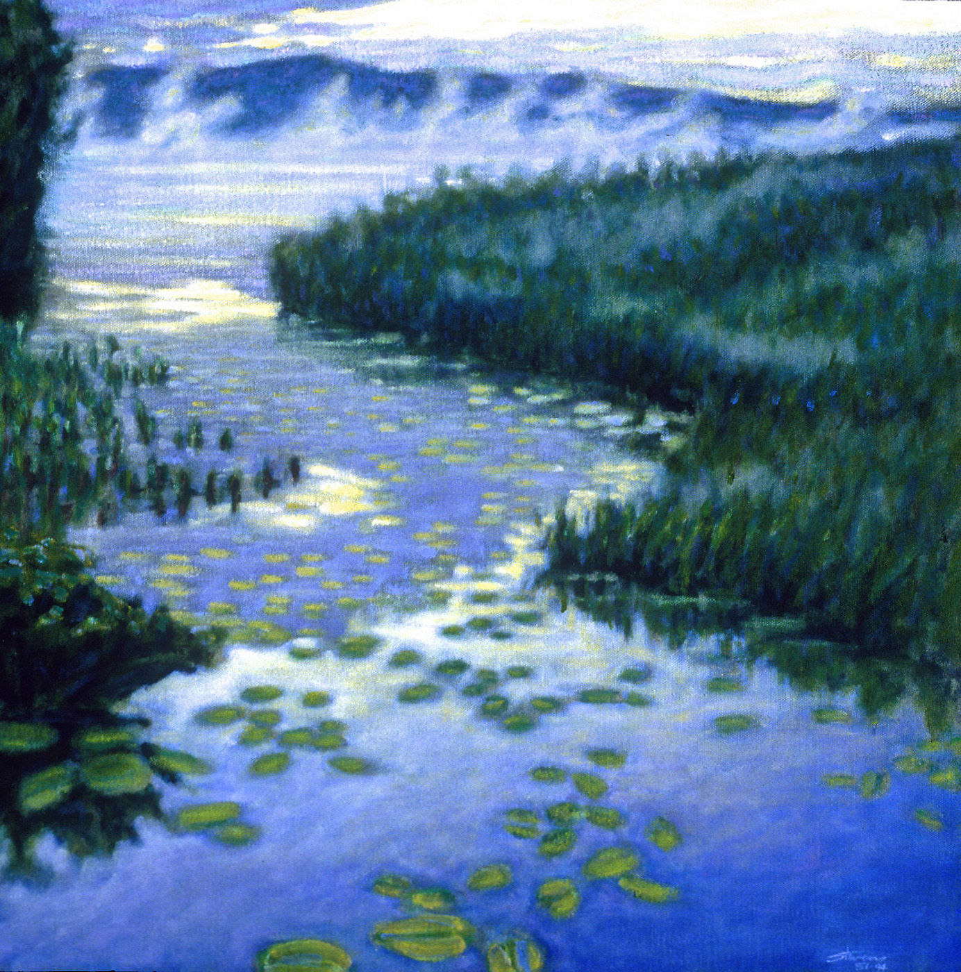 Morning Stream   | oil on canvas | 18 x 18"