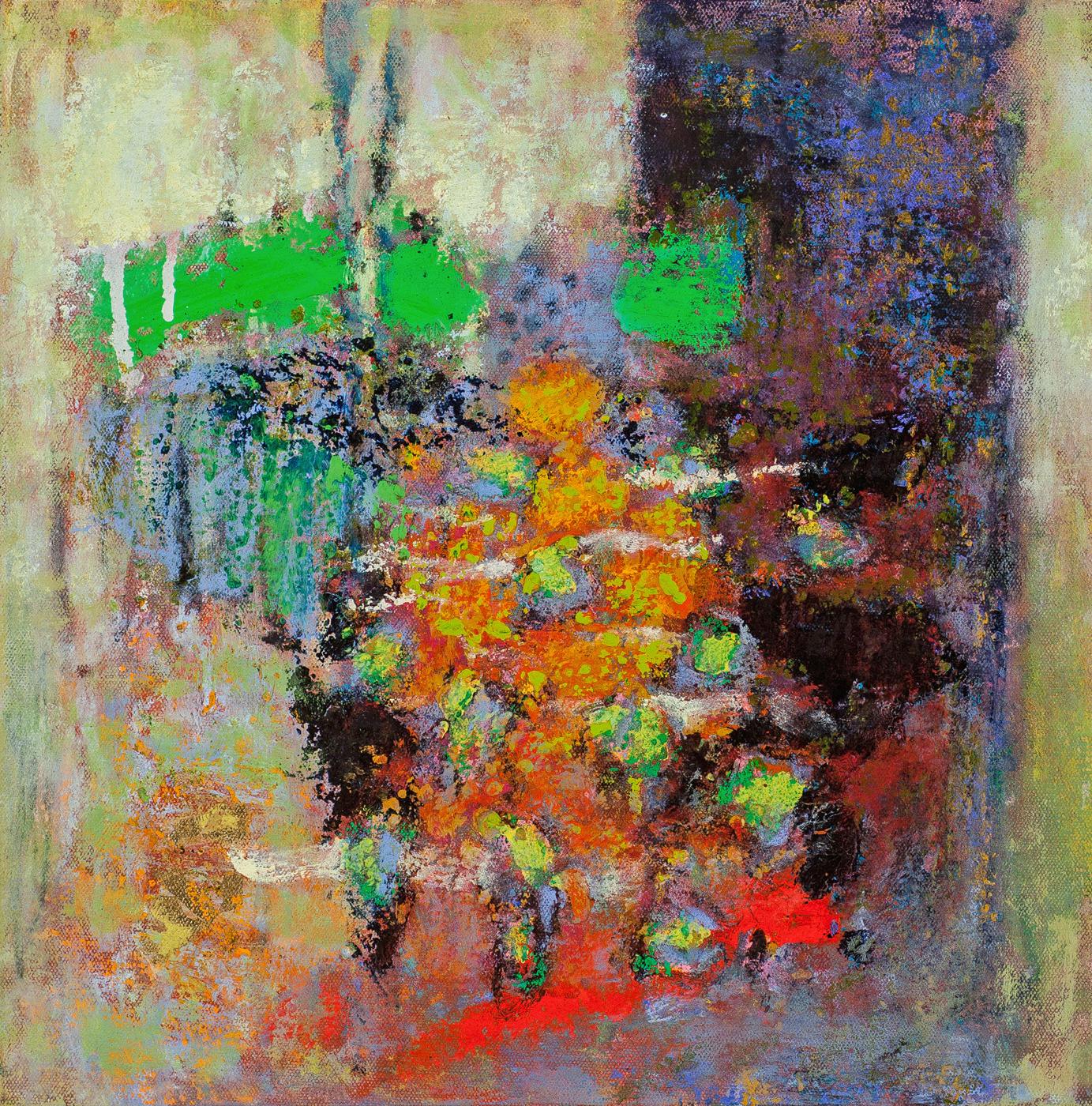 "Fresh Context   | oil on canvas | 14 x 14"" | 2015"