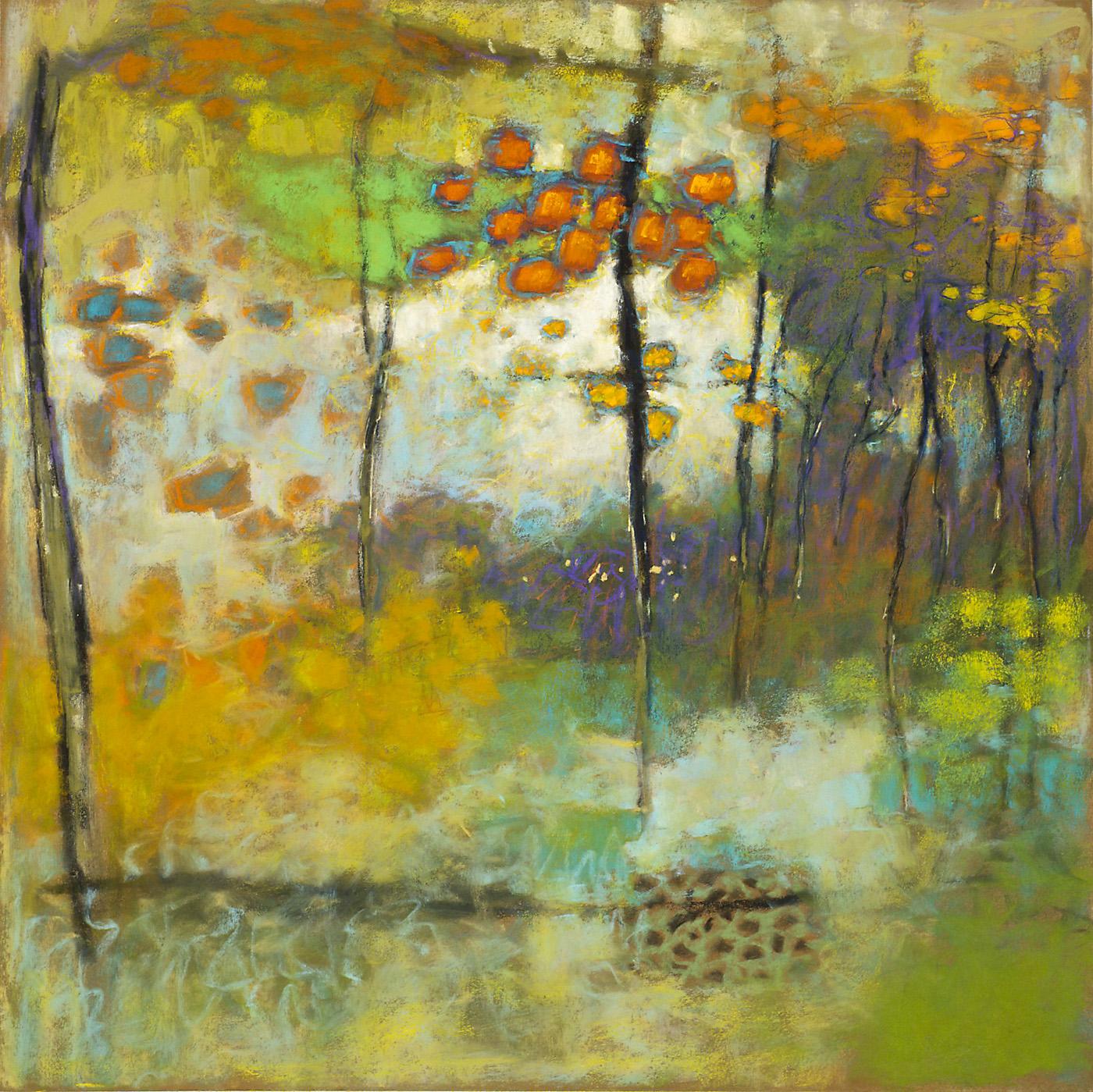 "Lingering Impressions   | pastel on paper | 24 x 24"" | 2013"