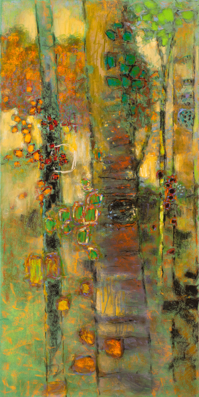 """Aspen Elixir     pastel on paper   36 x 18""""   2015"""