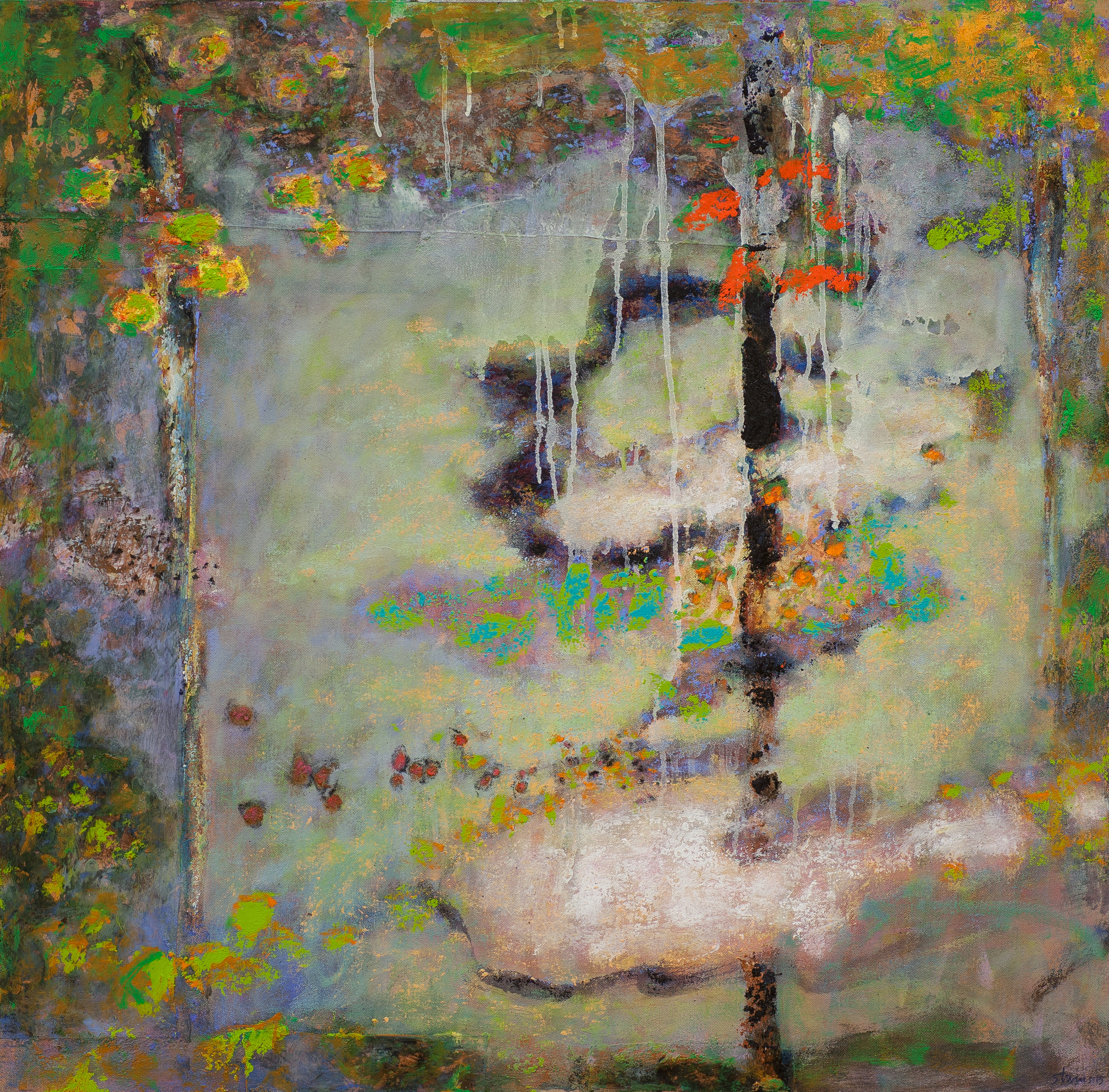 Adrift in the Ether Sphere   | oil on canvas | 32 x 31"