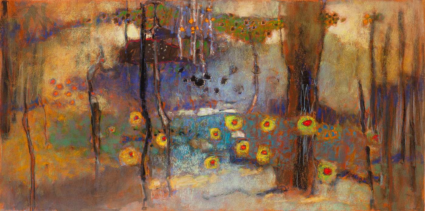 Propagating Within   | pastel on paper | 20 x 40"