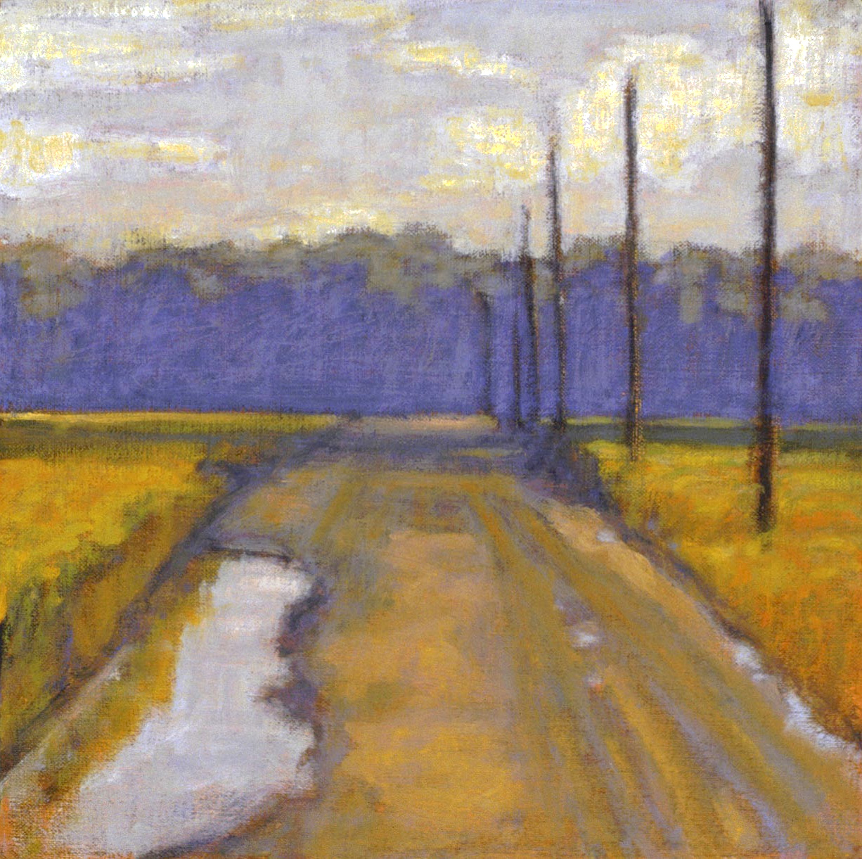 "New Harmony, IN   | oil on linen | 12 x 14"" | 2003"