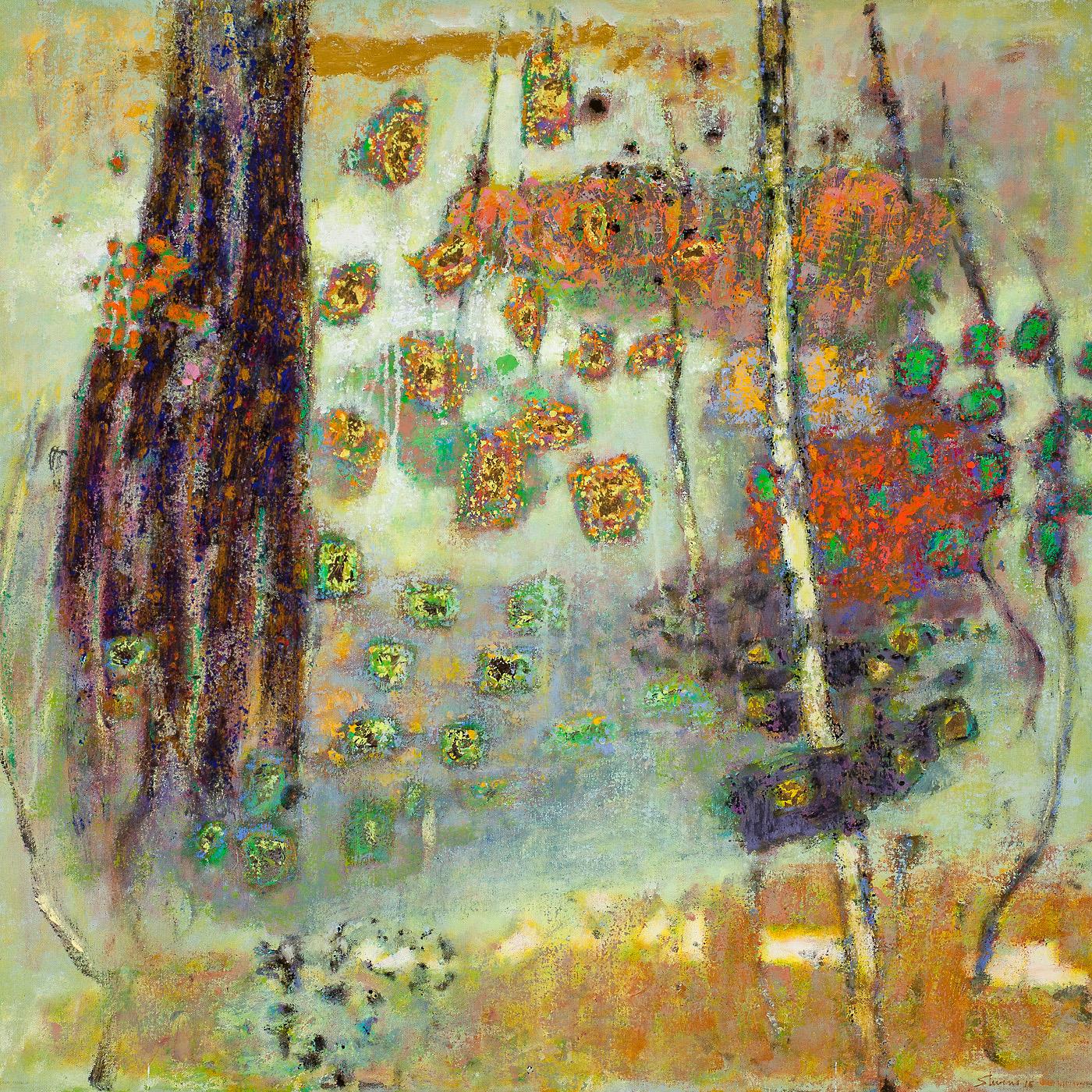 "Impromptu Influences   | oil on canvas | 32 x 32"" | 2015"