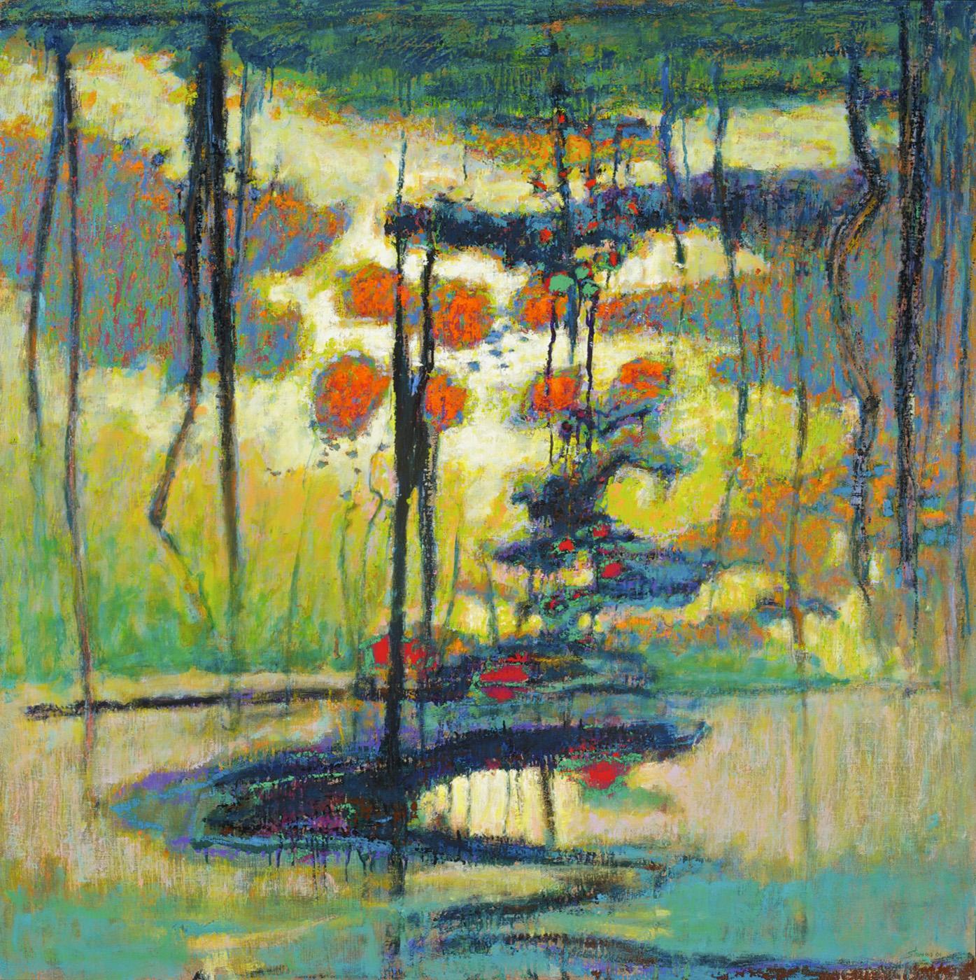 "Revealing Deep Secrets   | oil on canvas | 48 x 48"" | 2009"