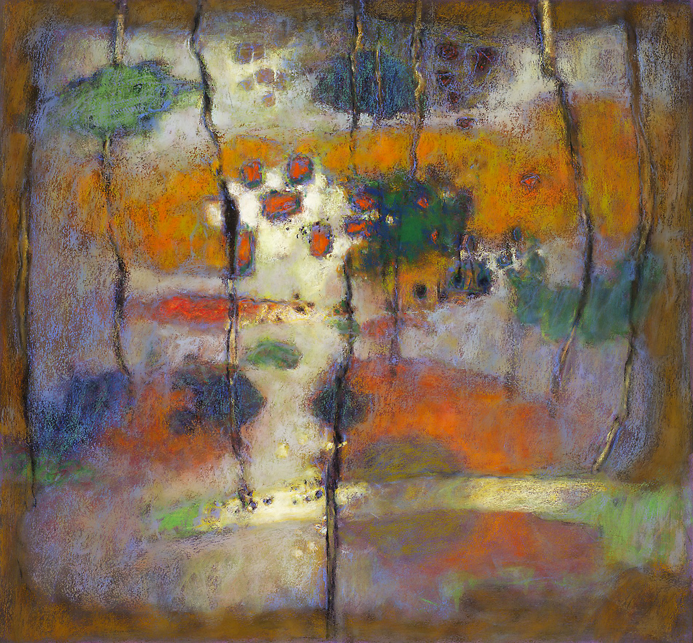 Dimensional Beginning   | pastel on paper | 24 x 26"