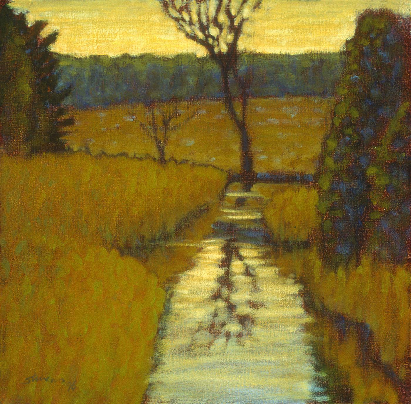 "Cedar Creek in Spring   | oil on canvas | 12 x 12"" | 1996"