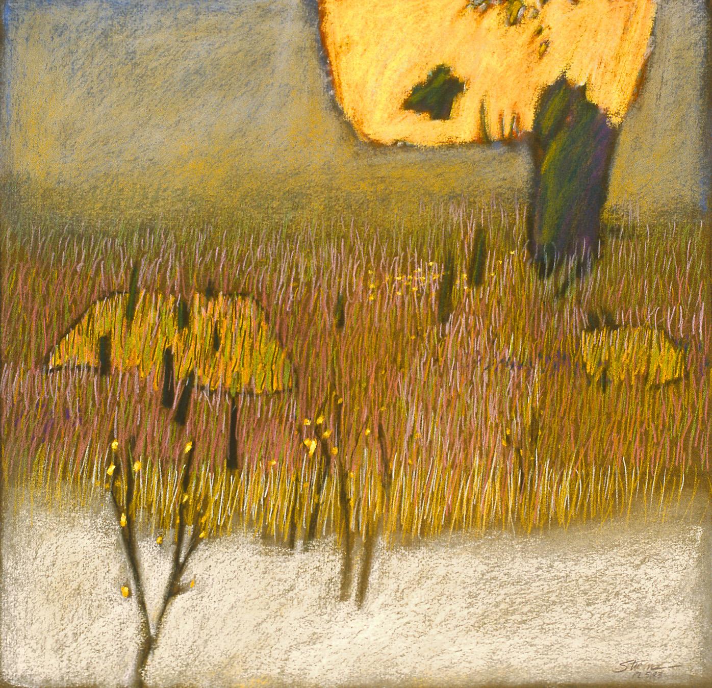 "Divine Pasture     pastel on paper   17 x 17""   1983"