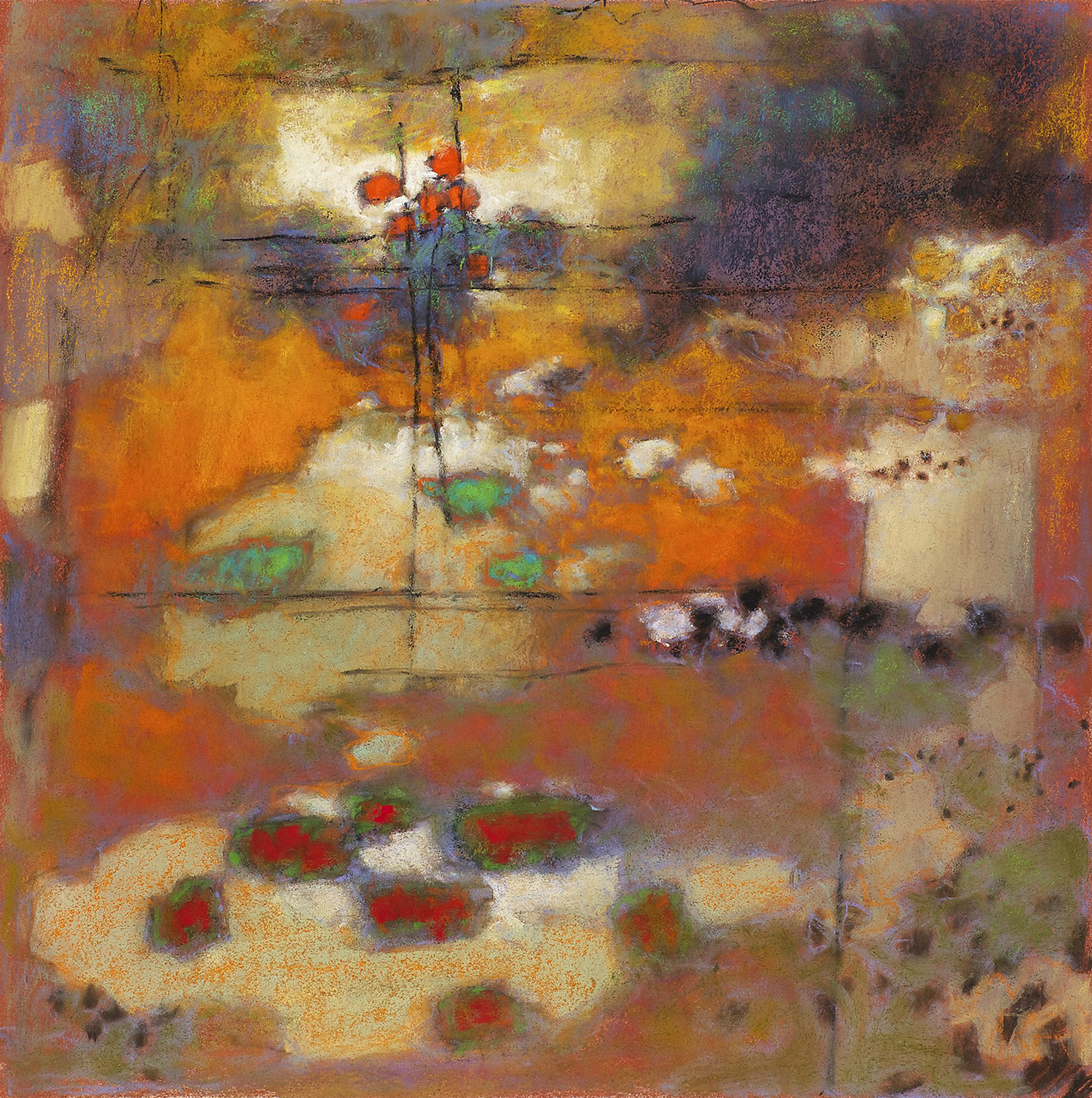 "79-12   | pastel on paper | 14 x 14"" | 2012"