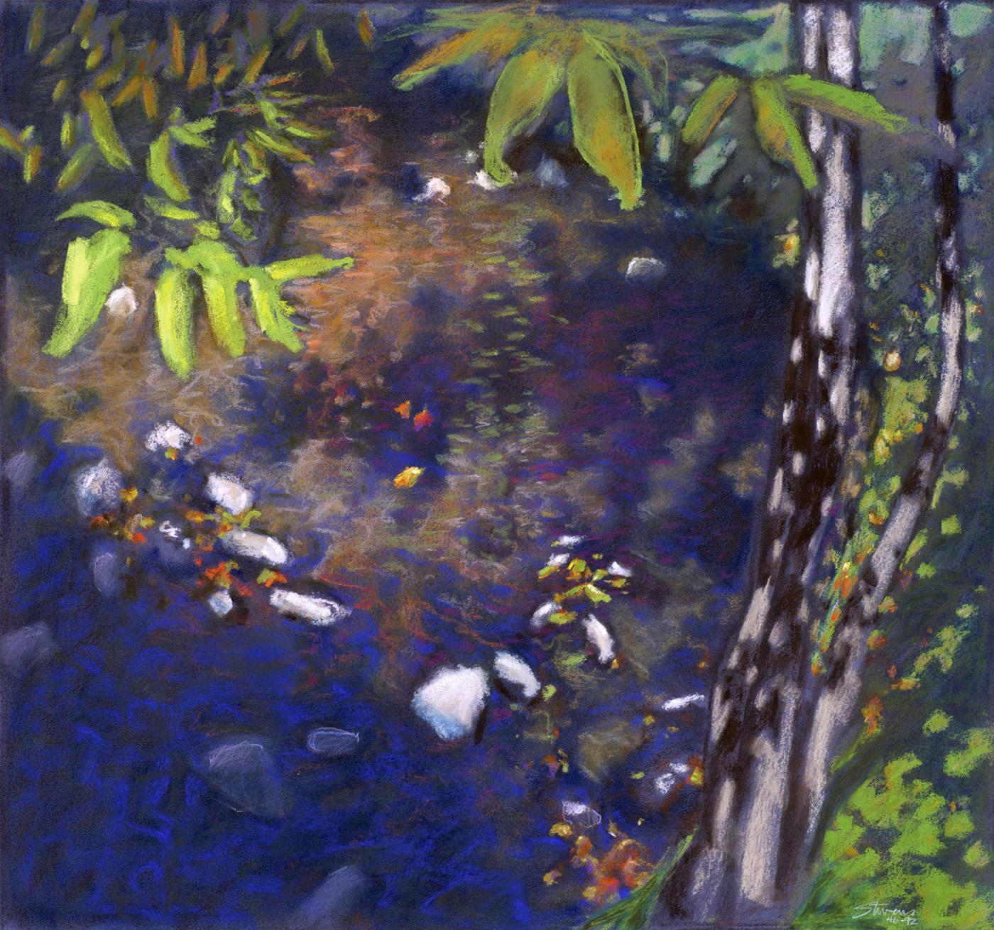"Bear Creek     pastel on paper   17 x 18""   1992"