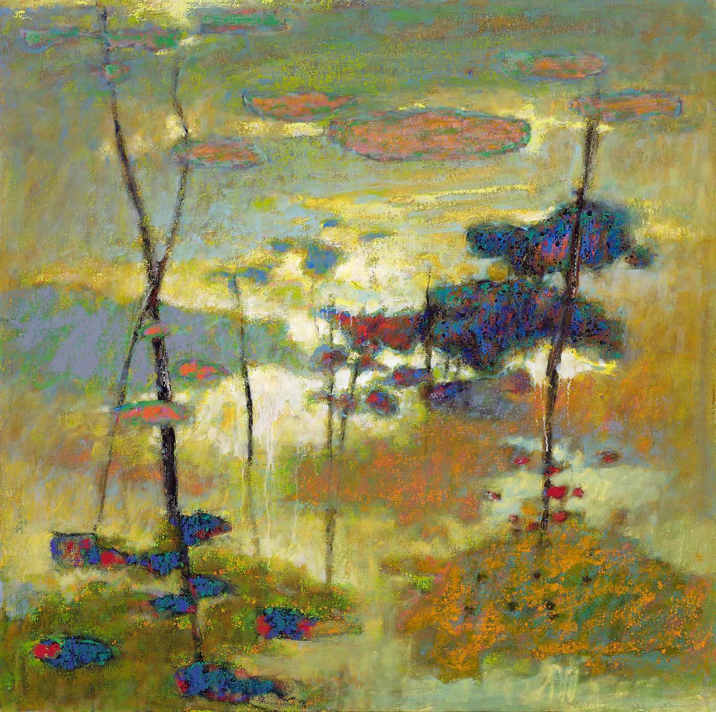 "Faraway     oil on canvas   48 x 48""   2011"