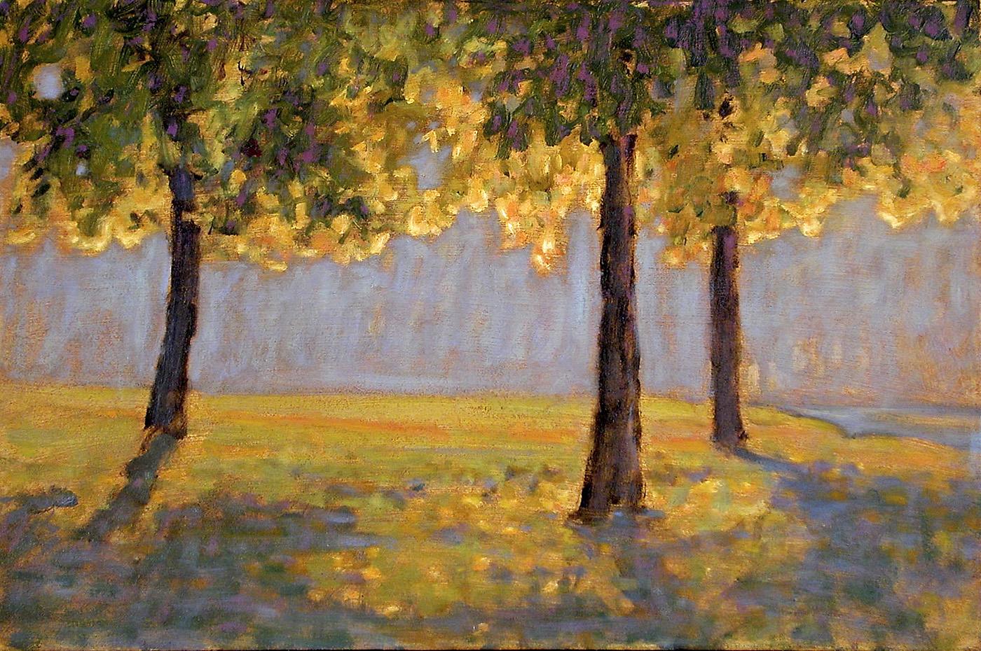 "Long Lake     oil on canvas   12 x 18""   2003"