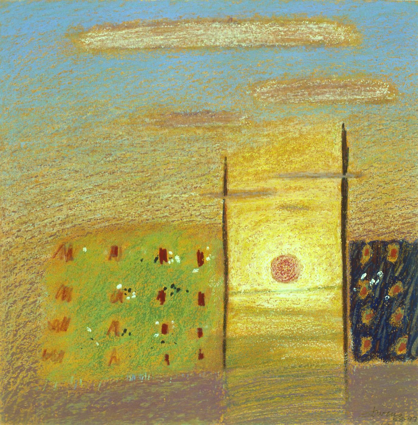 "58-97   | pastel on paper | 12 x 12"" | 1997"