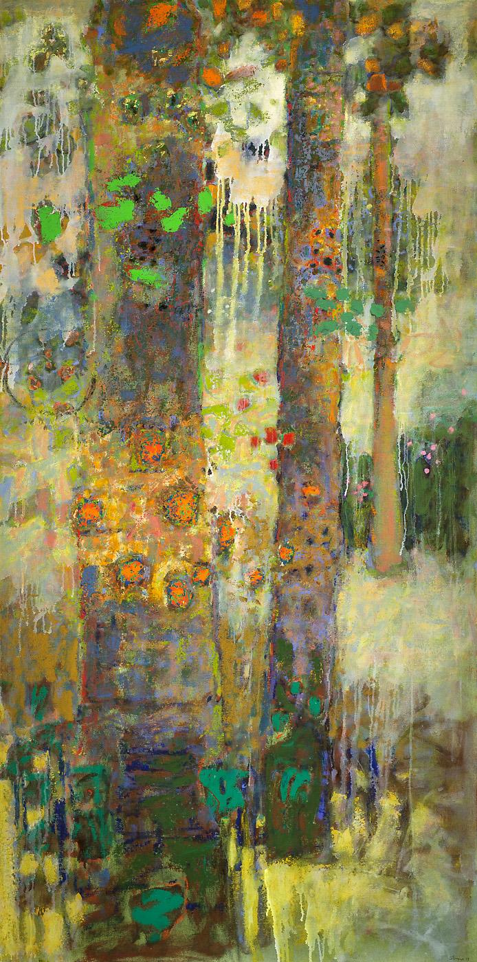 "Arborescence   | oil on canvas | 72 x 36"" | 2015"