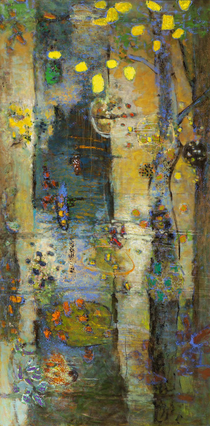 "Sylvan Flux   | oil on canvas | 96 x 48"" | 2016"