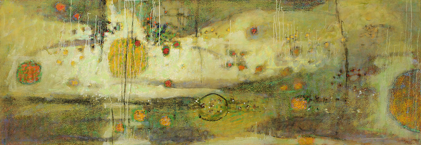 "Destination Beyond     oil on canvas   28 x 80""   2010"