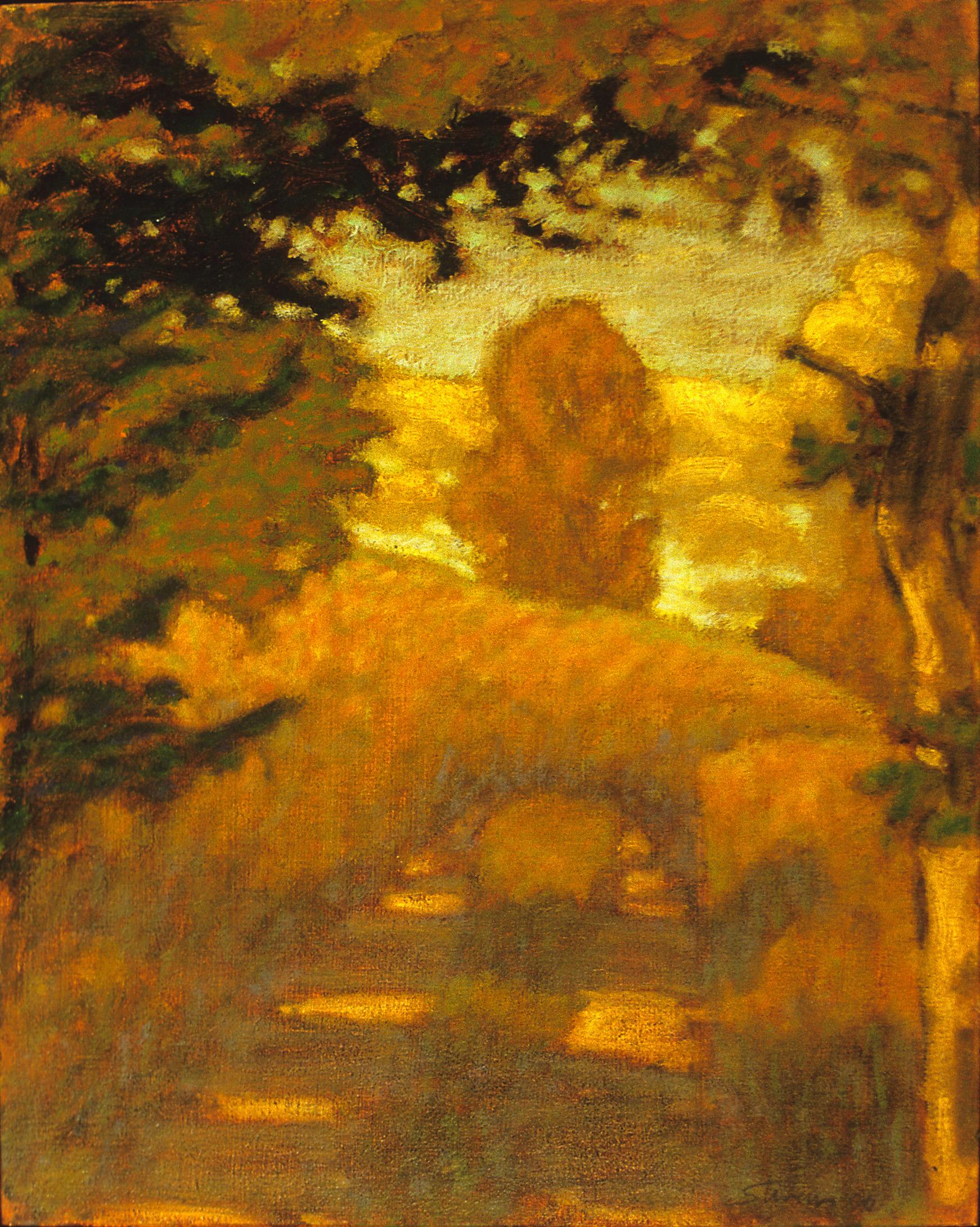 "Near Higgins Lake   | oil on canvas | 15 x 12"" | 2000"