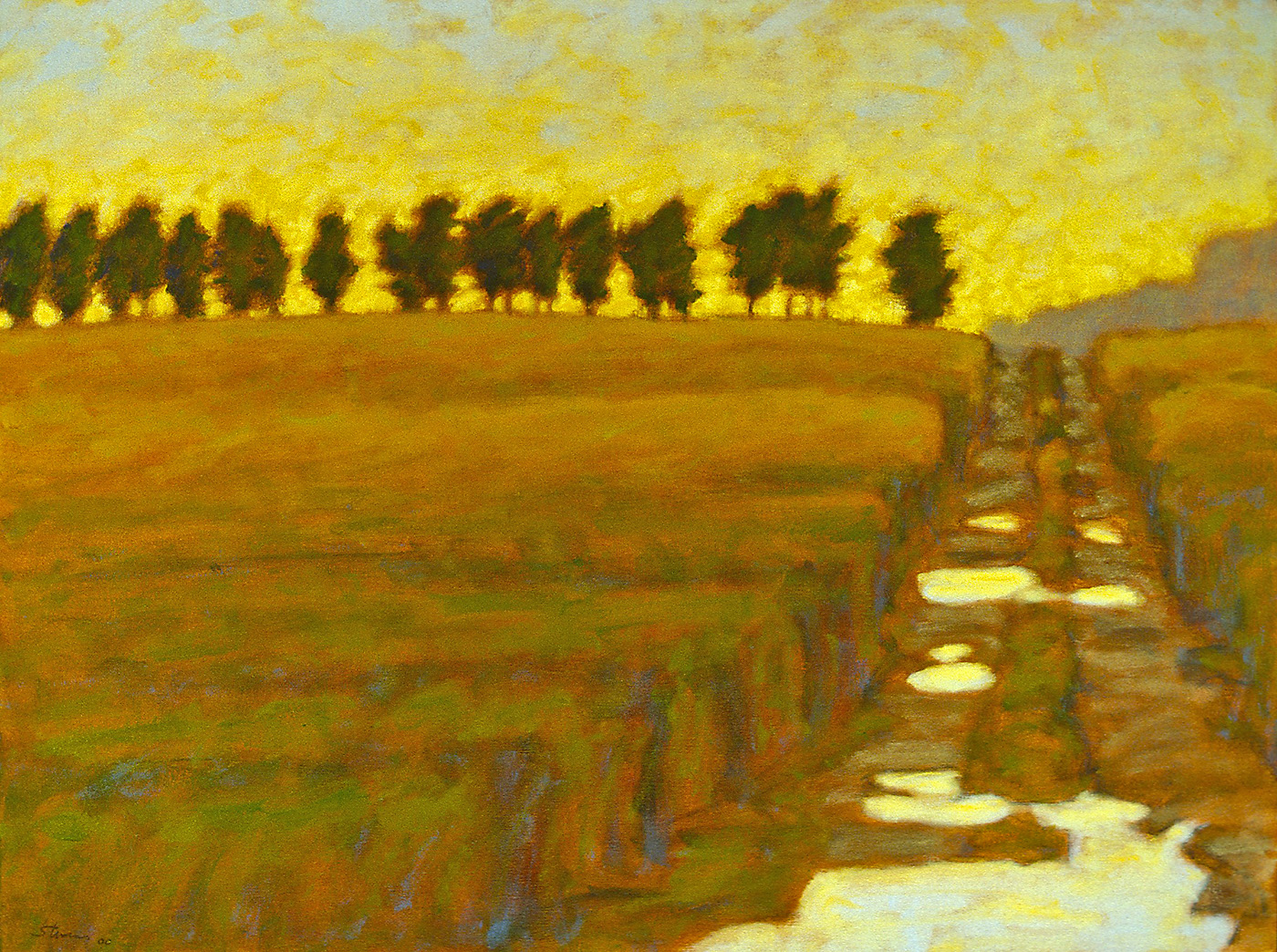 """After a Rain     oil on canvas   27 x 36""""   2000"""