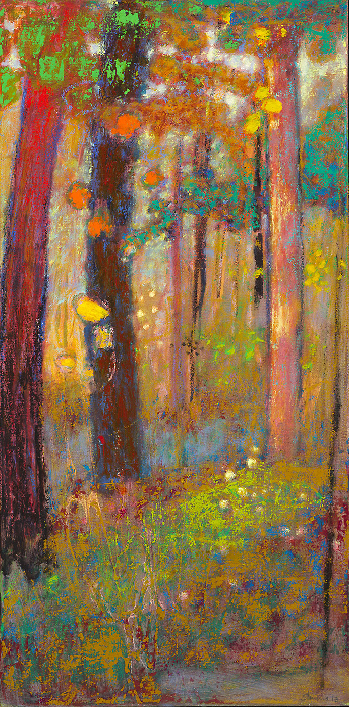 In This Spot   | oil on canvas | 32 x 16"