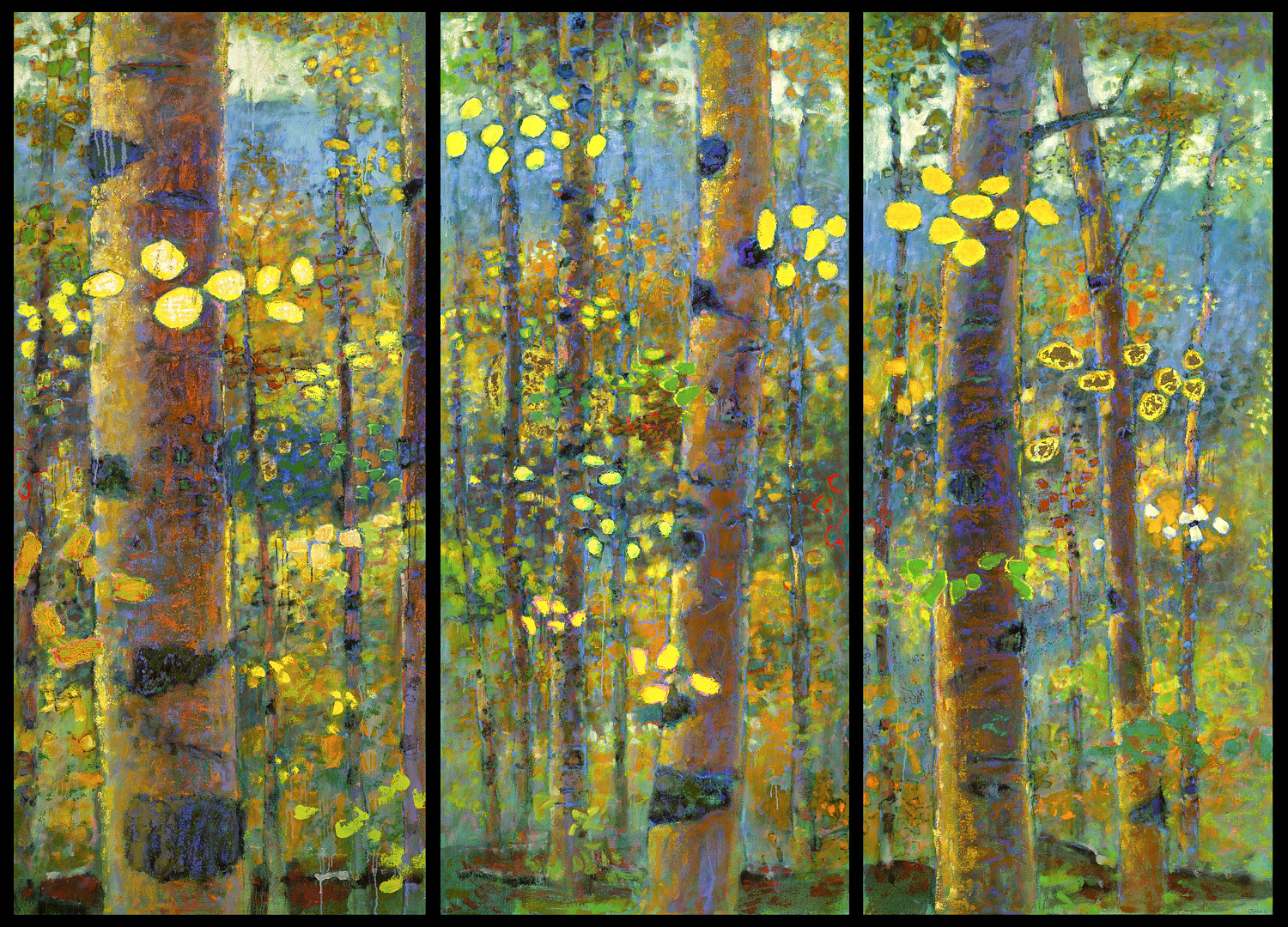 """Commission for the Burrell College of Osteopathic Medicine   oil on canvas   70 x 96"""" (triptych)   2016"""