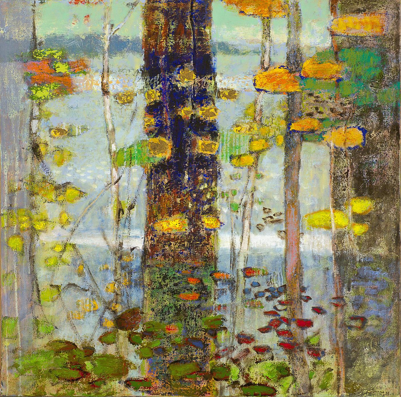 "Lakeshore Motif     oil on canvas   32 x 32""   2014"
