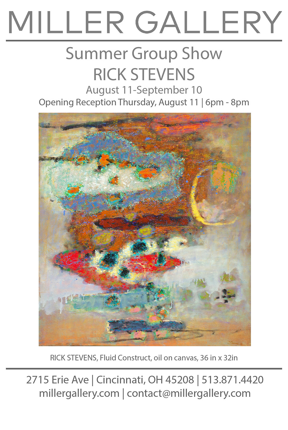 Rick's work will be included in Miller Gallery's upcoming Summer Group Show, opening August 11th.
