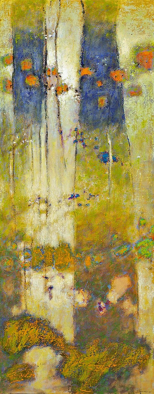 "Ascending Forces     oil on canvas   48 x 19""   2013"