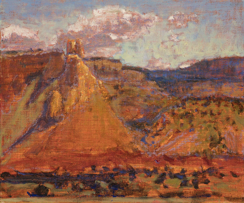 "Ghost Ranch Overlook     oil on linen   10 x 12""   2016"