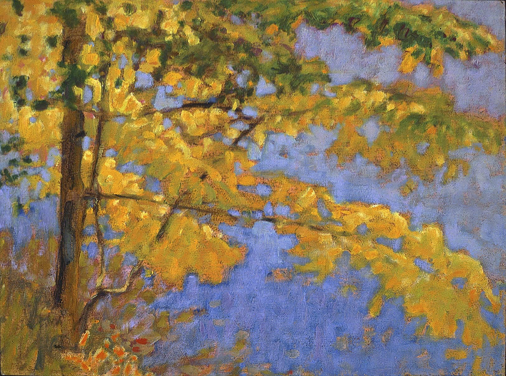 Yellow Against Blue   | oil on canvas | 12 x 15"