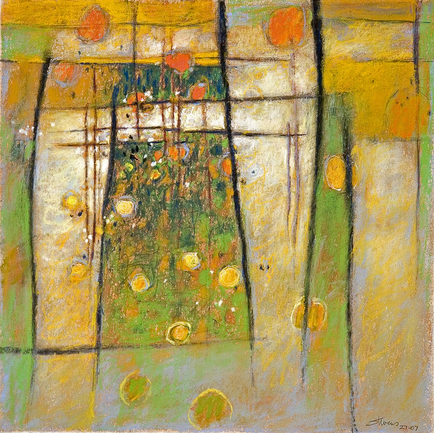 Floating and Dreaming   | pastel on paper | 14 x 14"
