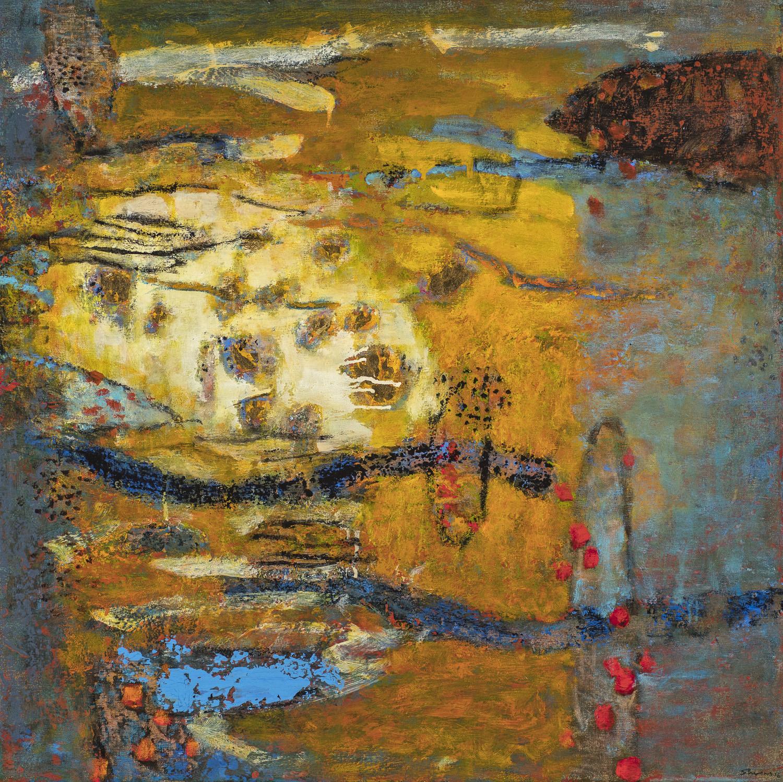 """Dreamhouse     oil on canvas   30 x 30""""   2016"""