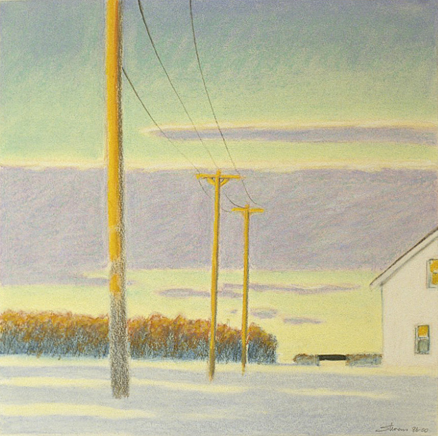 January in Upper Midwest   | oil pastel | 14 x 14"