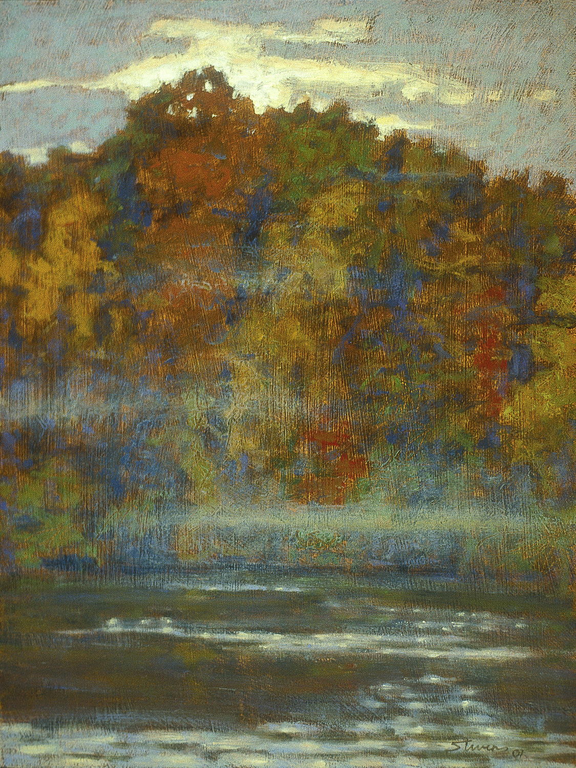 """Mist Over Long Lake   