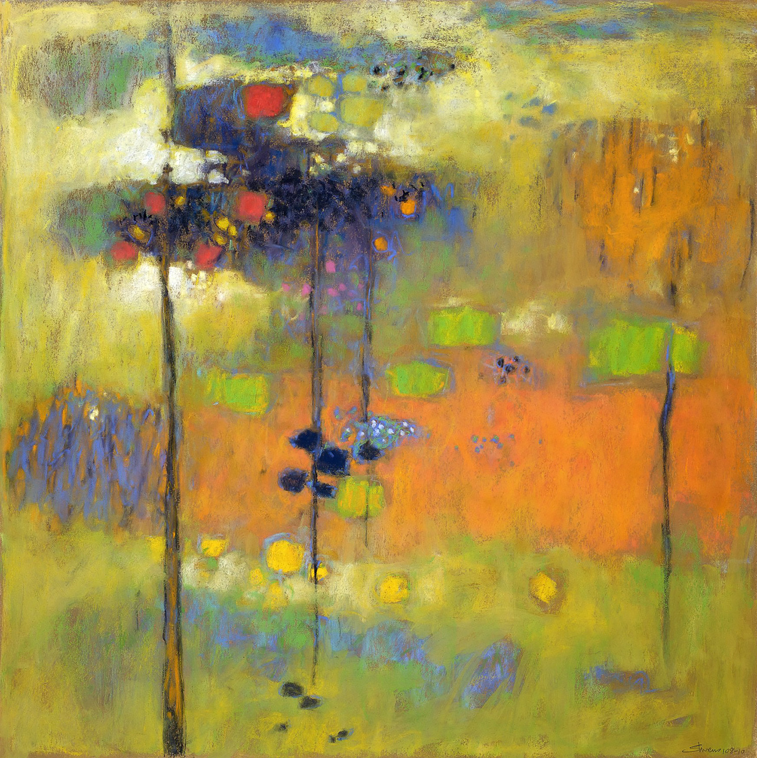 Chasing the Dawn   | pastel on paper | 24 x 24"