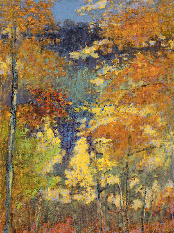 "Autumn, Hyde Park     oil on linen   24 x 18""   2017"