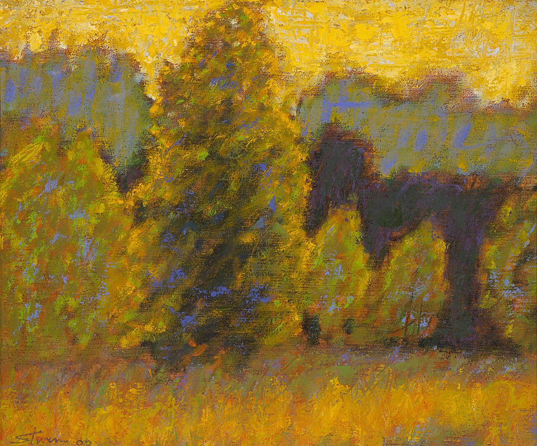 "Midsummer Light     oil on linen   10 x 12""   2000"
