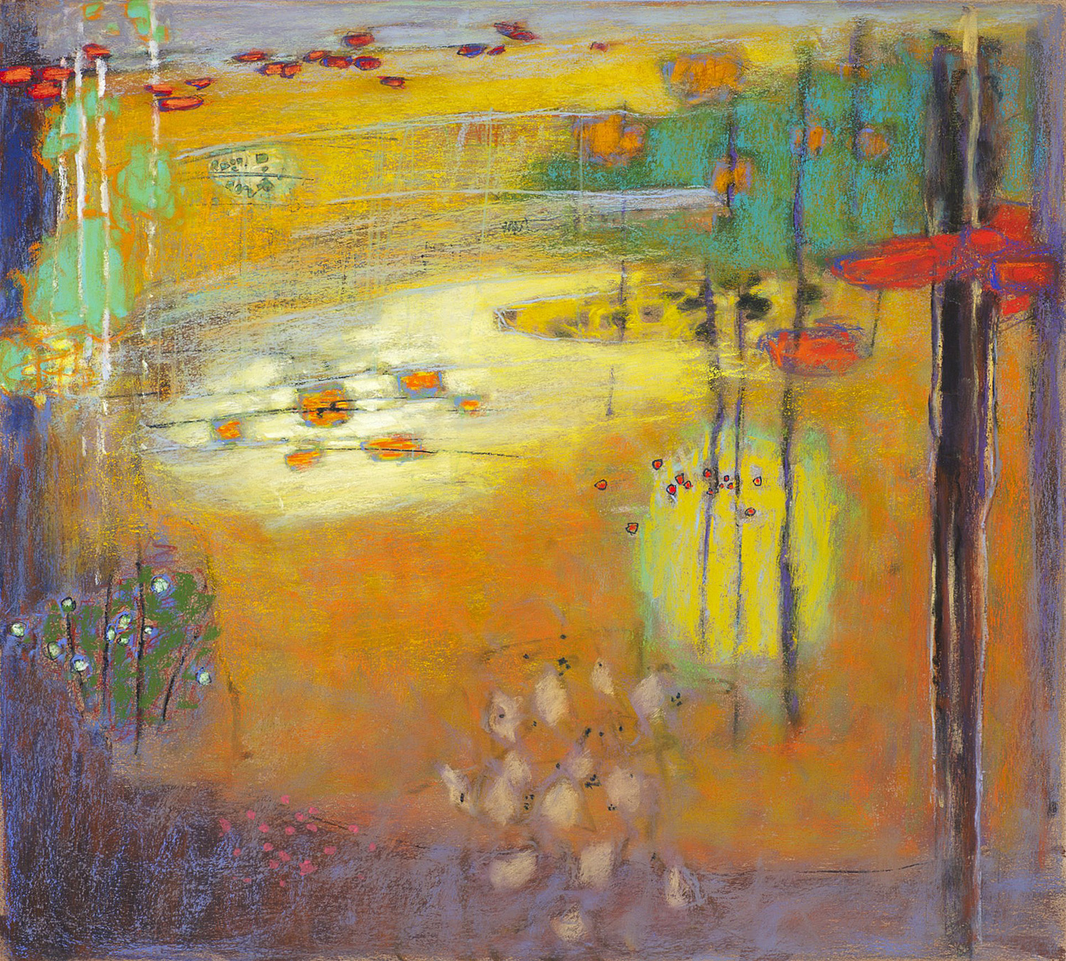 Emerging Into Matter   | pastel on paper | 18 x 20"